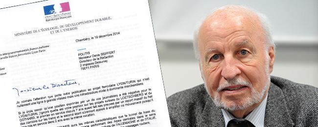 Affaire de la LGV Lyon-Turin : Louis Besson écrit à Politis – Politis